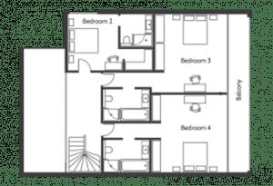 plan étage villa bahia