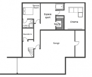 plan sous-sol villa bahia